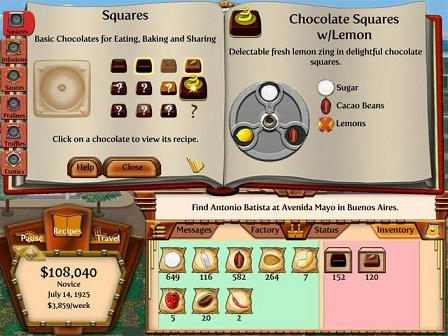 In the first instalment of the game, set in the mid-1800s, you open up new  ports and introduce the whole world to the joys of chocolate, whilst trying  to to ...